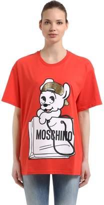 Moschino Oversize Pudgy Print Jersey T-Shirt