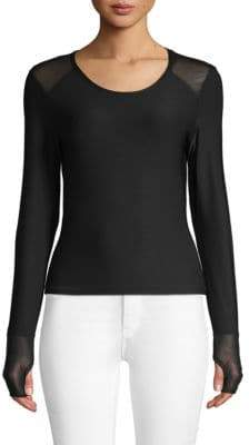 Classic Long-Sleeve Stretch Top