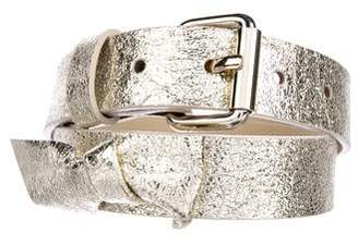 Marc by Marc Jacobs Metallic Buckle Belt