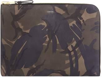 Tom Ford Leather Camouflage Printed Portfolio