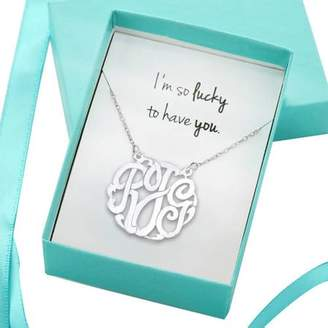 Monogram Online I'm So Lucky to Have You Monogram Necklace, Gift Boxed