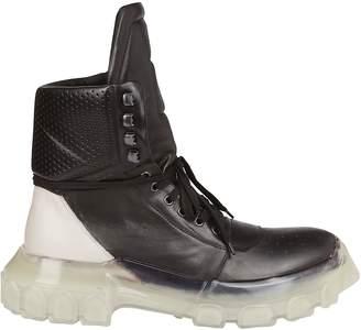 Rick Owens Darkshadow Combat Lace-up Boots