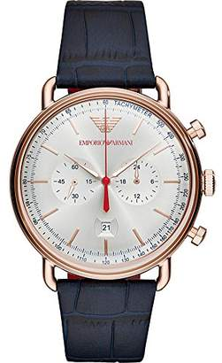 Emporio Armani Men's 'Chronograph' Quartz Stainless Steel and Leather Casual Watch