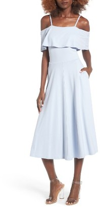 Women's Leith Cold Shoulder Midi Dress $69 thestylecure.com
