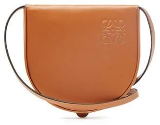 Loewe Heel Logo Debossed Leather Necklace Pouch - Womens - Tan