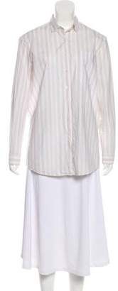 ATM Anthony Thomas Melillo Striped Button-Up Top