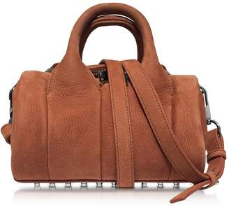 Alexander Wang Mini Rockie Terracotta Pebbled Nubuck Satchel Bag
