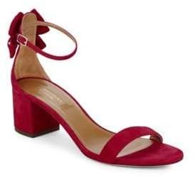 Aquazzura Siena Suede Bow Sandals