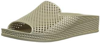 Skechers Women's Cali Glitz-Shine Game-Sculpted Mesh Front Single Band Slide Sandal