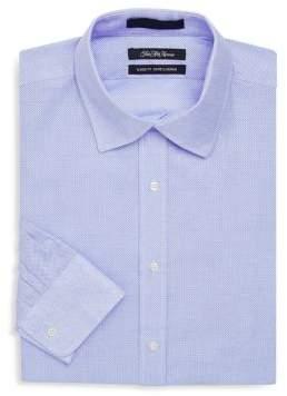 Saks Fifth Avenue Classic-Fit Nailhead Cotton Dress Shirt