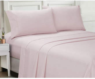 Ellen Tracy Microfiber Full Solid and Print Sheet Set Bedding