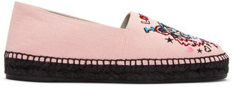 Kenzo Pink Limited Edition 'Tiger x I Love You' Espadrilles $175 thestylecure.com