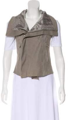 Rick Owens Lamb Leather Zip Vest