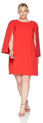 Eliza J Women's Plus Size Cape Sleeve Shift Dress