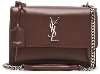 Saint Laurent Monogramme Sunset Shoulder Bag in Old Brandy | FWRD