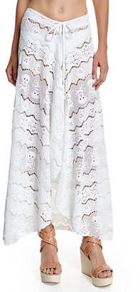 Letarte Embroidered Lace Coverup Skirt $238 thestylecure.com
