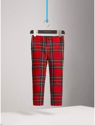 Burberry Tartan Wool Trousers