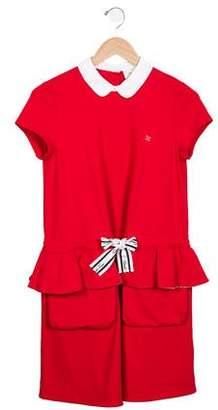 Fendi Girls' Short Sleeve A-Line Dress