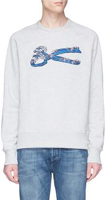 Denham Jeans 'Wave Sweat' logo embroidered sweatshirt