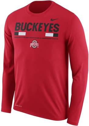 Nike Men's Ohio State Buckeyes Dri-FIT Legend Staff Long-Sleeve Tee