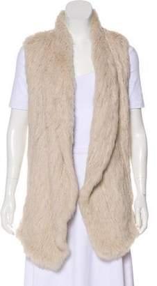 June Open Front Fur Vest