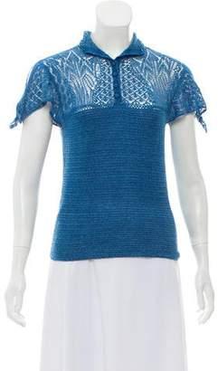 Ralph Lauren Open Knit Short Sleeve Top