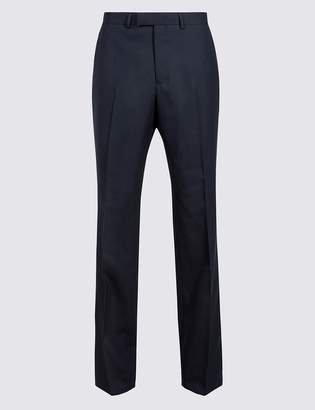 M&S Collection LuxuryMarks and Spencer Big & Tall Navy Slim Fit Wool Trousers