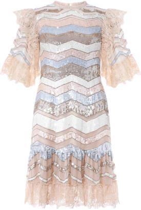 Needle & Thread Alaska Sequin Mini Dress Size: 6