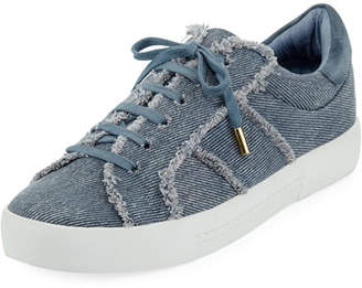 Joie Dakota Frayed Denim Low-Top Sneaker