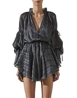Shona Joy Mare Puff Sleeve D.String Mini Dress