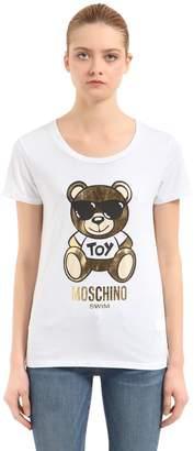 Gold Teddy Bear Cotton T-Shirt