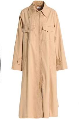 Ganni Cotton-Twill Trench Coat
