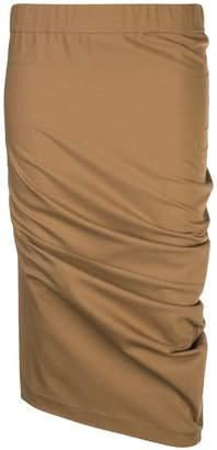 Brunello Cucinelli ruched straight skirt