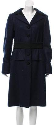 Alberta Ferretti Structured Wool-Blend Coat