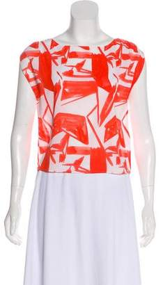 Alice + Olivia Silk Short Sleeve Top