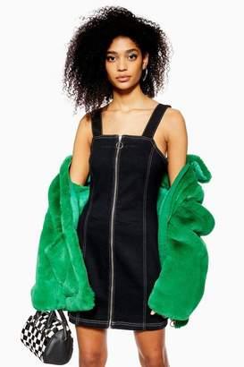 Topshop Stretch Denim Dress with Zip