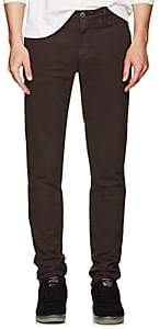 Incotex Men's Cotton Slim Trousers - Wine