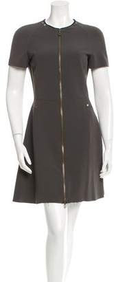 Lanvin Short Sleeve Zip-Up Dress