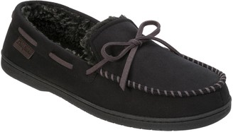 Dearfoams Microsuede Slipper Moccasins with Tie