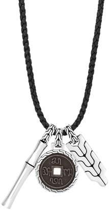 John Hardy Men's Bamboo Silver Triple Pendant Necklace