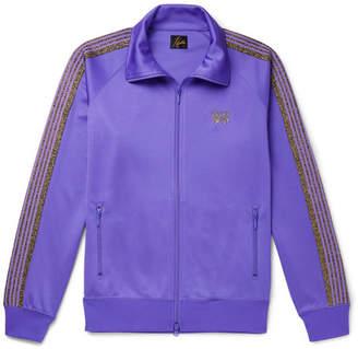 Needles Glittered Webbing-Trimmed Tech-Jersey Track Jacket