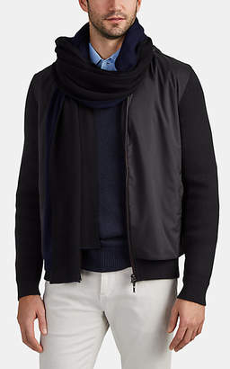 Barneys New York Men's Double-Faced Cashmere Long Scarf - Black