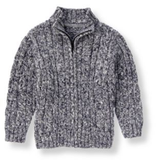 Janie and Jack Marled Cable Sweater Cardigan