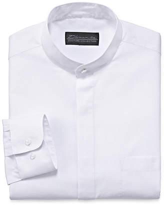 DAMANTE D'Amante Banded-Collar Long-Sleeve Dress Shirt