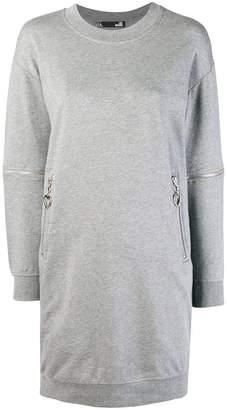 Love Moschino round neck sweatshirt dress