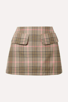 Maggie Marilyn + Net Sustain Short And Sweet Checked Woven Mini Skirt - Sand