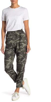 Know One Cares Side Stripe Camo Printed Joggers