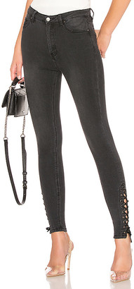 by the way. Madelyn Lace Up Skinny Jeans.