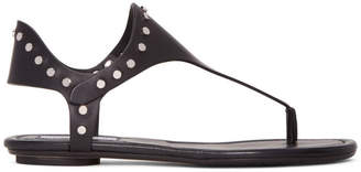 Jimmy Choo Black Studded Dara Sandals