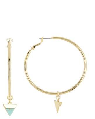 Vince Camuto 50mm Triangle Charm Hoop Earrings